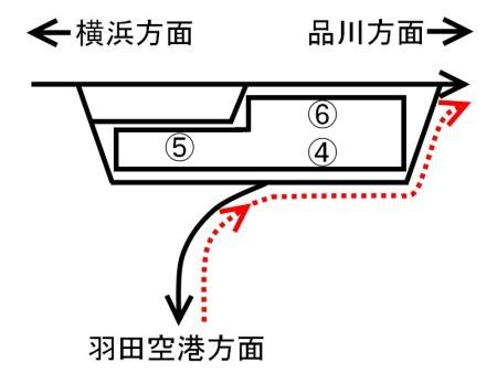京急蒲田駅構内図上り線_品川c.jpg