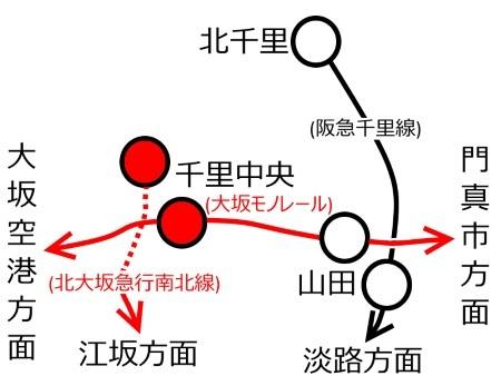 千里中央駅周辺路線図c.jpg