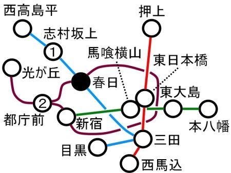 都営地下鉄路線図都庁前c.jpg